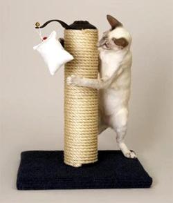 Как сделать когтеточку домик для кошВязаный чехол